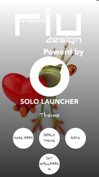 Cute Frog Solo Launcher Theme apk screenshot