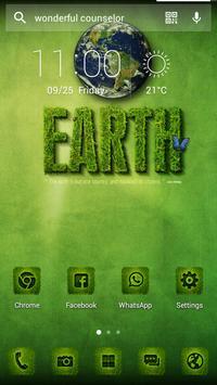 Green Earth Solo Launcher Theme apk screenshot