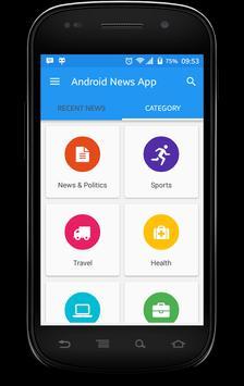 Android News App Demo apk screenshot