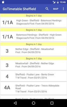 GoTimetable Sheffield apk screenshot