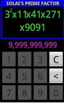 Solai's Prime Factor screenshot 1