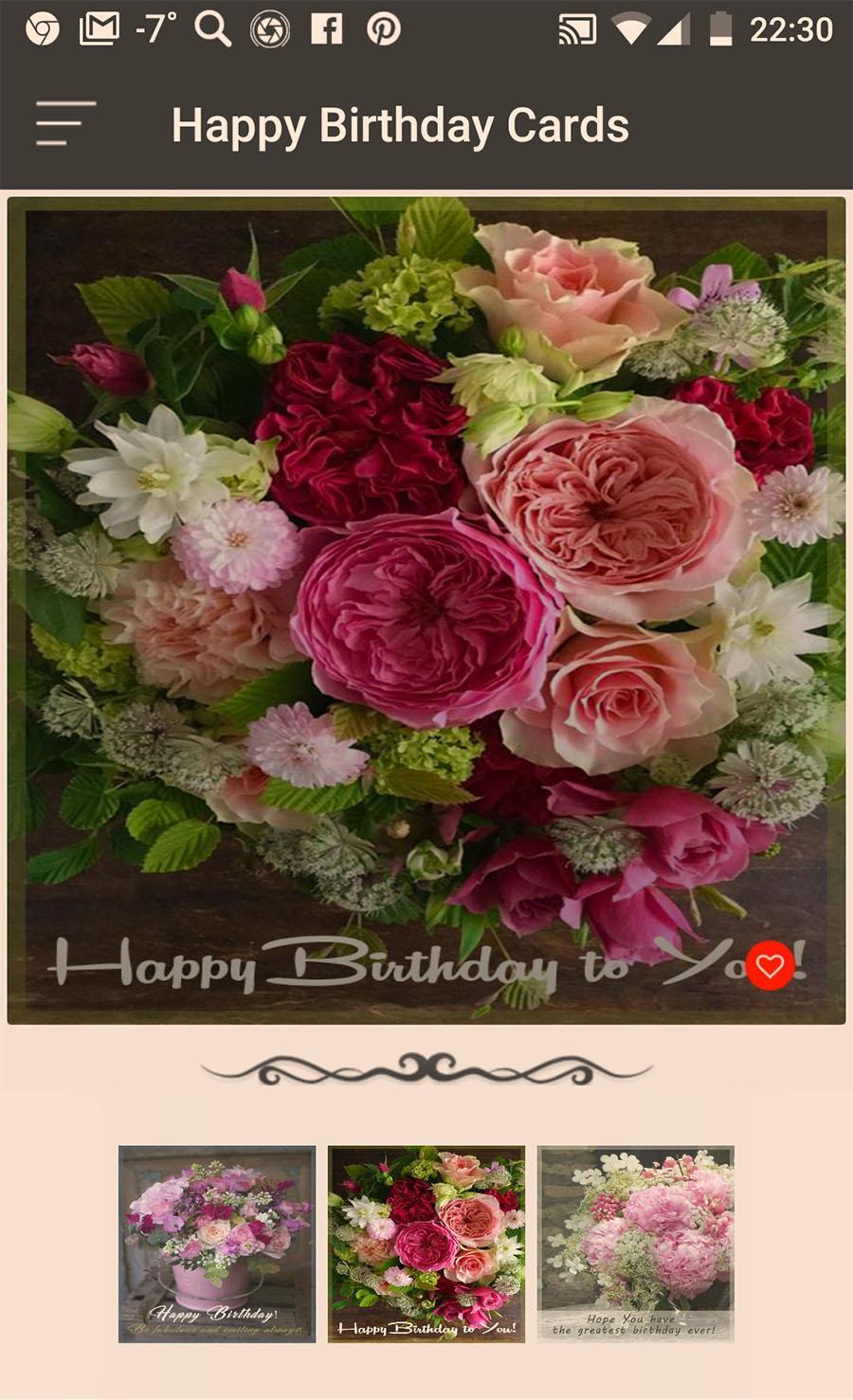 Birthday Greeting Cards Flowers Social App Poster
