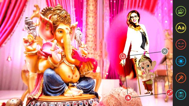 Ganesha Photo Editor Frame poster