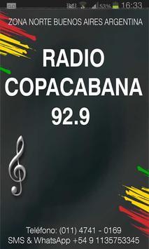 RADIO COPACABANA 92.9 MHZ poster