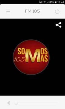 FM 105 25 DE MAYO poster