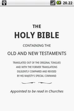 Holy Bible (KJV) poster