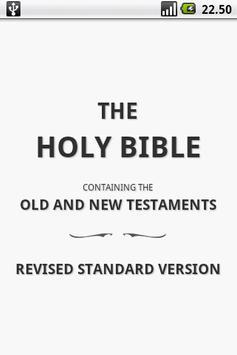 Holy Bible (RSV) poster