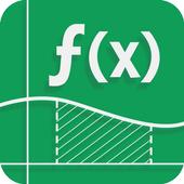 數學解算器與步驟和圖形計算器 圖標