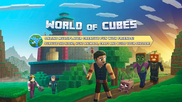 World Of Cubes Survival Craft With Skins Export APK Download Free - Skin para minecraft 1 8 multiplayer