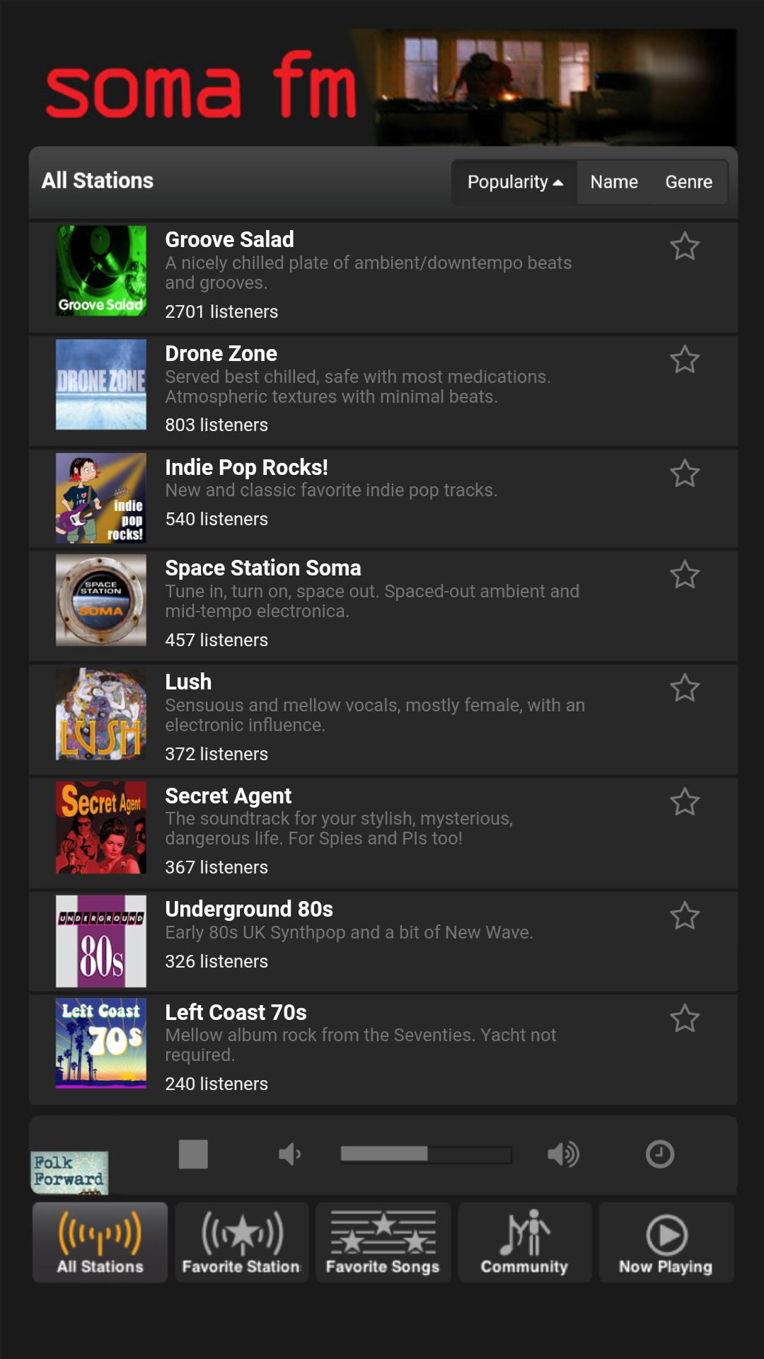 SomaFm - unofficial free player for Android - APK Download