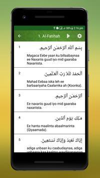 Al Quran Somali screenshot 3