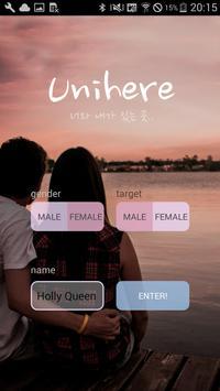 Unihere - Random Chatting poster