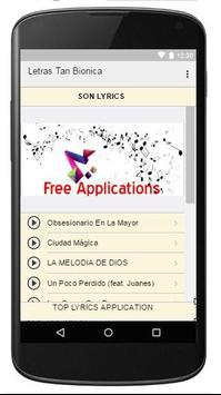 Lyrics Music Tan Bionica apk screenshot