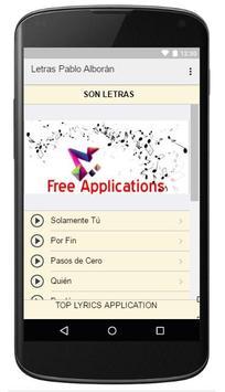 Lyrics Music Pablo Alboran apk screenshot