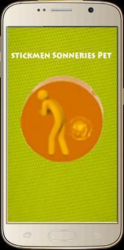 Stickmen Sonneries Pet poster