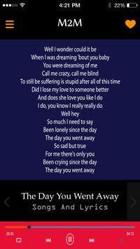 M2M Songs And Lyrics screenshot 1