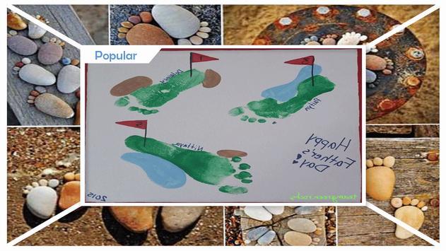Creative DIY Footprint Art Tutorials apk screenshot