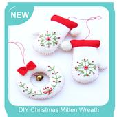 DIY Christmas Mitten Wreath icon