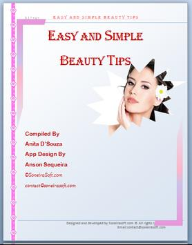 Easy And Simple Beauty Tips apk screenshot