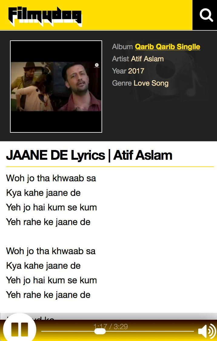 So Jaane De Lyrics — Smarthouse