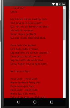 LaFee Songtexte screenshot 1