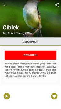 Top Suara Burung Offline screenshot 2
