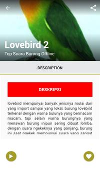 Top Suara Burung Offline screenshot 4