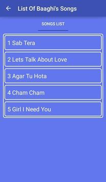 Baaghy Songs and Lyrics screenshot 1