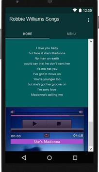Robbie Williams Songs apk screenshot