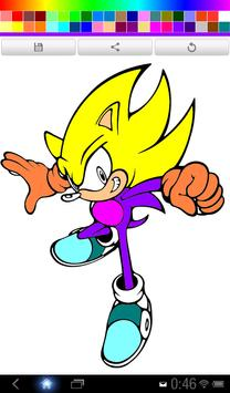 Coloring Book : Speed Hedgehog poster