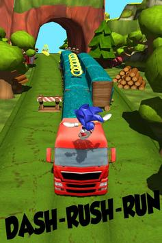 Angry sonic adventure Run apk screenshot