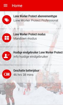 Vodafone Lone Worker Protect poster