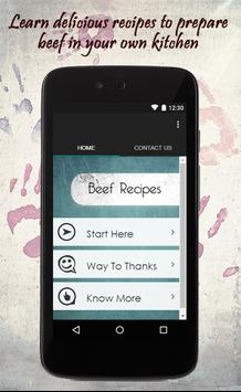 Beef Recipes Guide poster