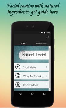 Natural Facial Tips poster