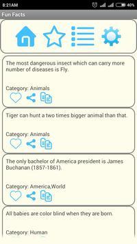 Fun Facts apk screenshot