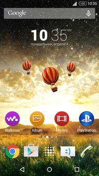 Air Style Xperia Theme poster