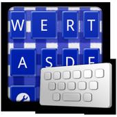 GinghamCheckNavyblue keyboard icon