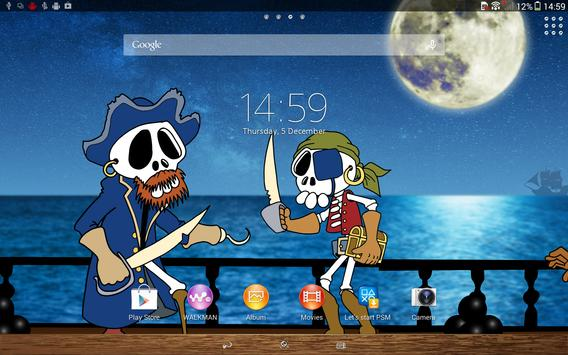 XPERIA™ Comic Pirate Theme apk screenshot