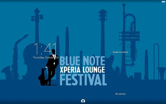XPERIA™ Blue Note Theme poster