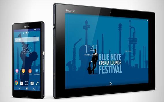 XPERIA™ Blue Note Theme apk screenshot