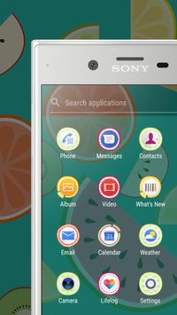 Xperia™ Fruit Salad Theme screenshot 3