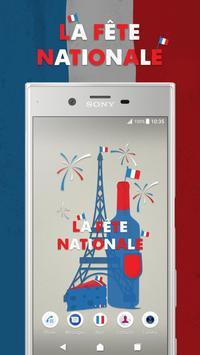 XPERIA™ La Fête Nationale Theme poster