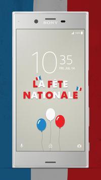 XPERIA™ La Fête Nationale Theme screenshot 1