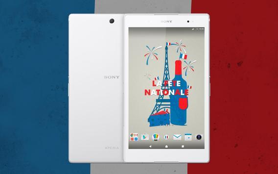XPERIA™ La Fête Nationale Theme screenshot 4