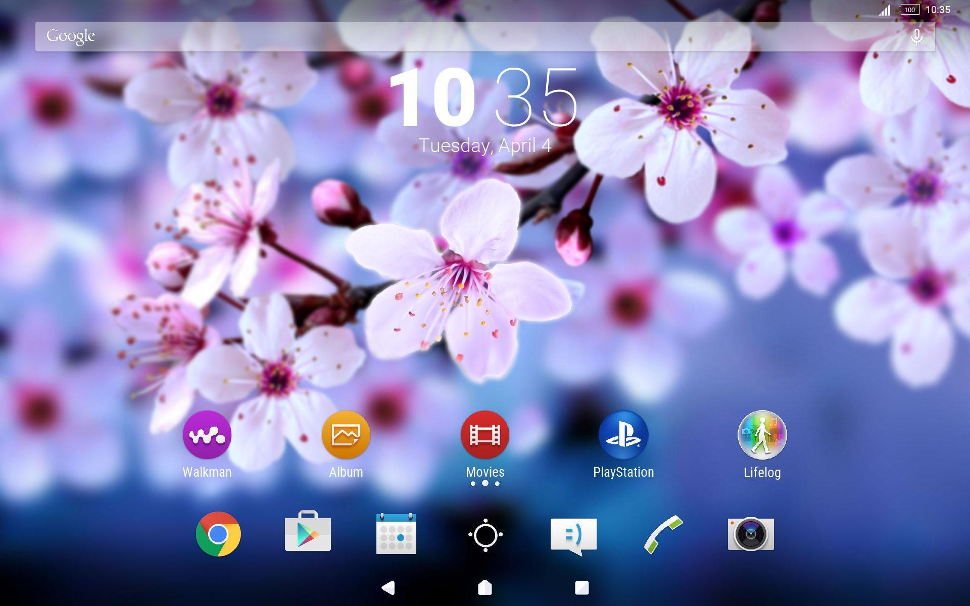 Android 用の Xperia Spring Theme Apk をダウンロード