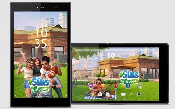 XPERIA™ The Sims Mobile Theme screenshot 6