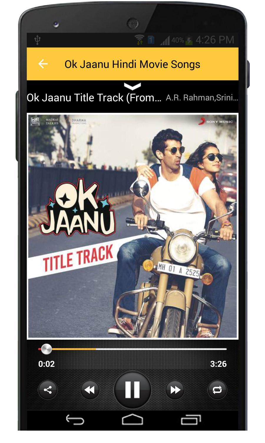 Ok Jaanu Hindi Movie Songs for Android - APK Download