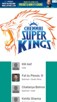 CSK Playing in 11 Players and Fixture/Matches screenshot 3