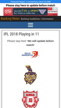 CSK Playing in 11 Players and Fixture/Matches screenshot 1
