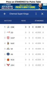 CSK Playing in 11 Players and Fixture/Matches screenshot 2